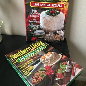 Lot of 2 Southern Living: 1987 Annual Recipes